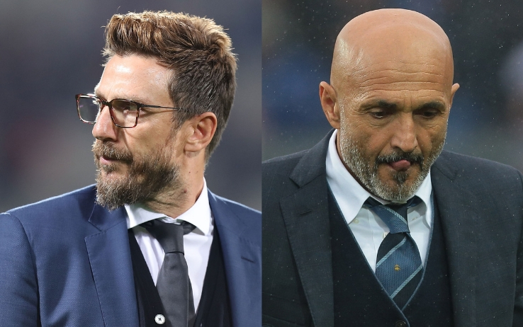 Di Francesco e Spalletti - Roma-Inter