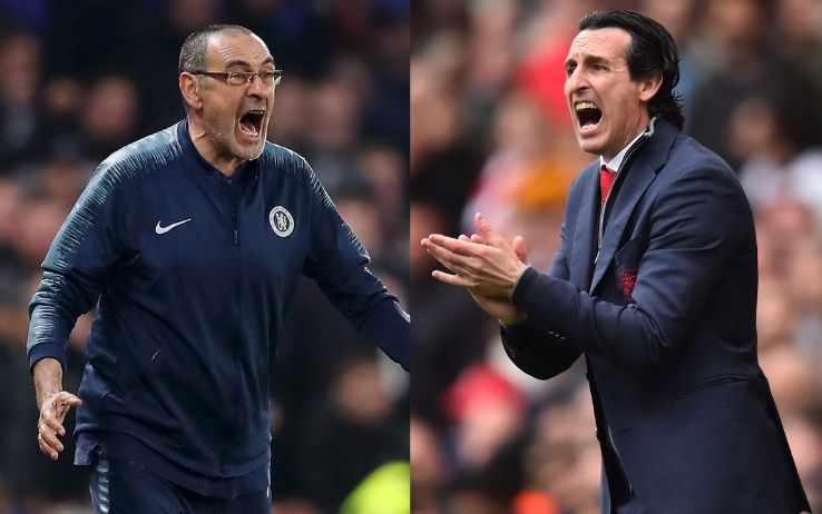 Sarri ed Emery - Chelsea-Arsenal, Europa League