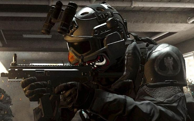 Call of Duty Warzone maschera antigas d'oro